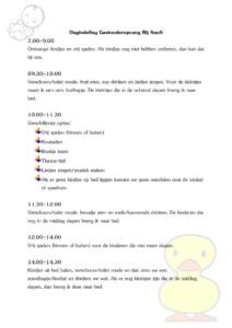 gastouder Kamp, Lelystad Suzanne van der Bijl Dag Indeling2